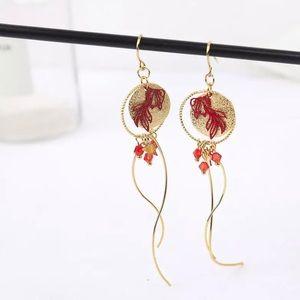 3️⃣@$30 Gold Fish Dangle Earrings